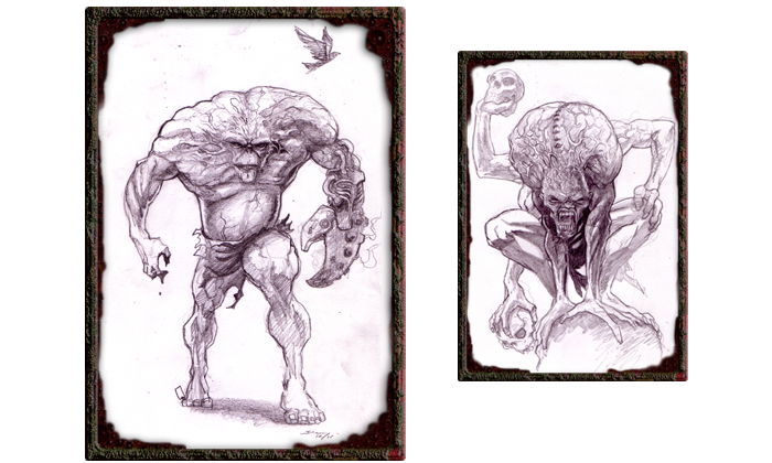 Early Zombie Boss Concepts